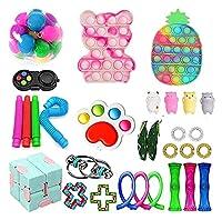 フィジットのおもちゃのパック、ポップバブル安い感覚の指のおもちゃのおもちゃセットストレスリリーフのおもちゃ子供アダルトのための大理石のメッシュポップ不安チューブ (Color : Fidget Toy-6)