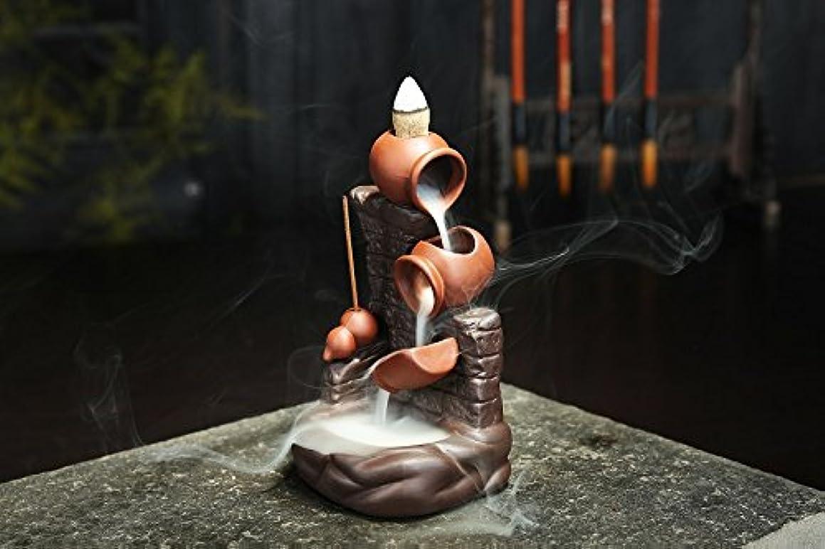 フルートコントローラ資本(Style 29) - Gift Pro Ceramic Backflow Incense Tower Burner Statue Figurine Incense Holder Incenses Not Included (Style 29)