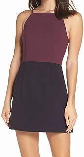 French Connection Womens Dress Plum Purple US Size 2 Sheath Colorblock