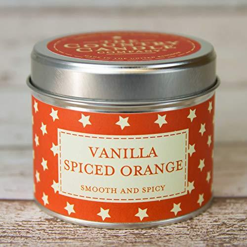 La Collection Country Candle Company Superstars Vanille Orange épicée Bougie en étain, Multicolore