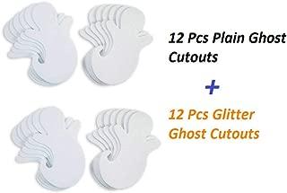 Plain & Glittered Foam Ghost Cutouts 3.5