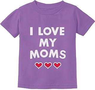 Tstars - I Love My Moms - Gay Pride Mother's Day Gift Baby Infant Kids T-Shirt