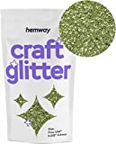 Hemway Craft 100g -Purpurina fina 1/64'0.015' 0,4 mm, verde oliva, FINE 1/64' 0.015' 0.4MM