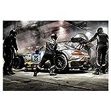 artboxONE Poster 90x60 cm Sport/Motorsport Boxenstopp - Bild Nordschleife Nürburgring Grüne Hölle