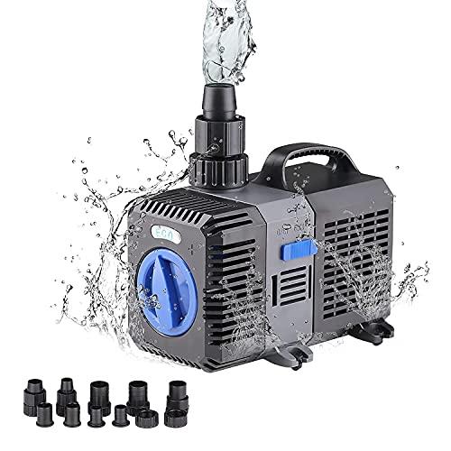 Super Eco Teichpumpe Filterpumpe 8000L/H 70Watt Energiespar Wasserpumpe Koiteich Bachlaufpumpe CTP-8000