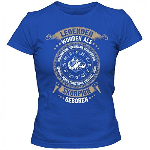 Sternzeichen Skorpion #2 T-Shirt   Astrologie   Horoskop   Legenden   Frauen   Shirt, Farbe:Blau (Royalblue L191);Größe:M