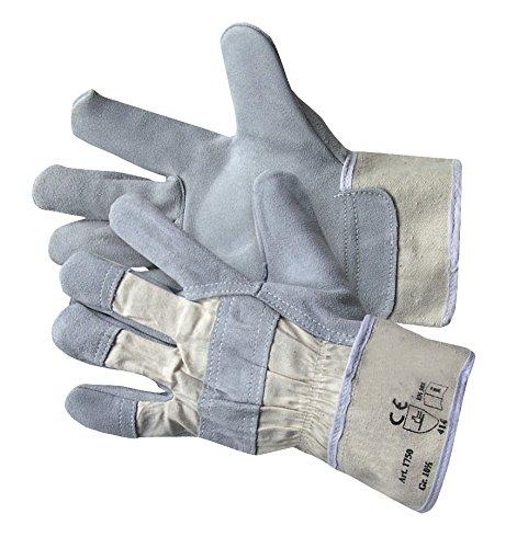 Jah 1750serraje para guantes, Heavyweight, kräftig, natural, tamaño 10.5, 20unidades)