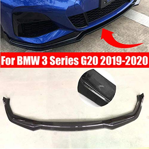 OTBKNB Frontspoiler, 1Set ABS Frontstoßstange Lippenseitenschweller Splitter Spoiler Für BMW 3Er G20 2019 2020 Außenteile