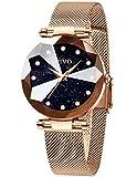 CIVO Relojes para Mujer Reloj Damas de Malla Impermeable Minimalista Oro Rosa Elegante Banda de Acero Inoxidable Relojes de Pulsera Moda Vestir Negocio Casual Reloj de Cuarzo (Azul)