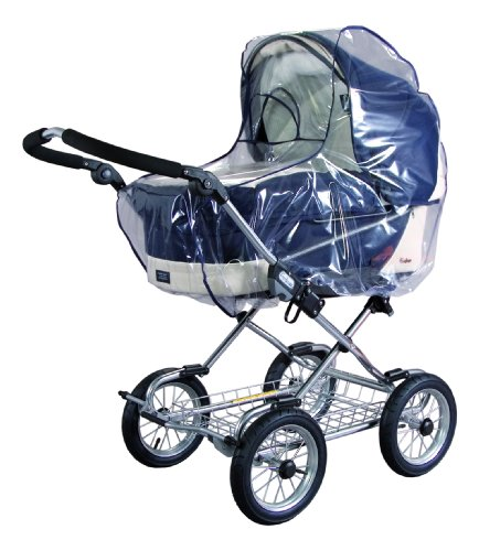 sunnybaby 10020 - Universal Regenverdeck, Regenschutz für EXTRA GROSSE Kinderwagen, Babywanne, Soft-Tragetasche | Kontaktfenster für optimale Luftzirkulation | glasklar | Qualität: MADE in GERMANY