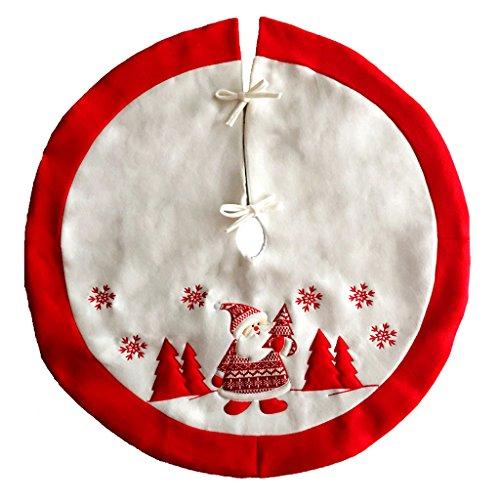 SIMPVALE Weihnachtsbaum Rock Base L Weihnachtsdekoration rot und weiß