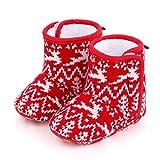 zzzddd Zapatillas, Baby Christmas Boots Lovely Snowflake Santa Design Winter...