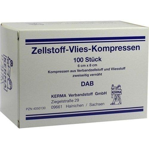 Zellstoff-Vlies-Kompressen 12-fach 6x8 cm unsteril 100 St.