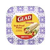 Glad Square Disposable Paper Plates for All...