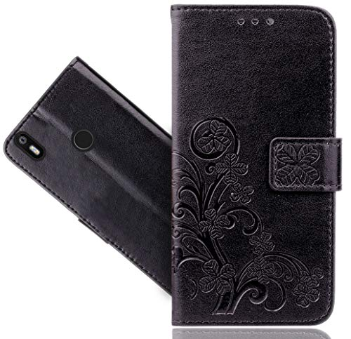BQ Aquaris X/X Pro Handy Tasche, FoneExpert® Wallet Hülle Cover Flower Hüllen Etui Hülle Ledertasche Lederhülle Schutzhülle Für BQ Aquaris X/X Pro