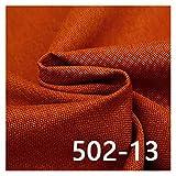 VIAIA Tela de tapicería de Tela de sofá sólido para Material de Lino de Muebles para Hacer Cortina (Color : 13, Size : 50x150cm)