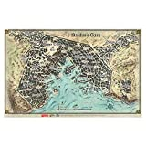 Dungeons & Dragons: Baldurs Gate: Descent Into Avernus - Baldurs Gate Map (23 x 17 in)