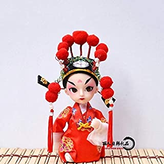 Tining Beijing Opera Facial Masks Figure PVC Rubber Toy Model Vintage Chinese Style Gift Home Display