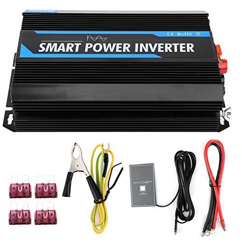 Terisass Auto Power Inverter 6000w 12V bis 220V Pure Sinus Auto Ladegerät Steckdose Adapter Transformator Auto Zubehör