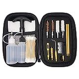 APCHYWELL 9mm Pistol Cleaning Kit, Handgun Cleaning kit for .357 .38 with Bronze Bore Brush, Brass Jag Adapter, Empty Bottle, Nylon Brushes
