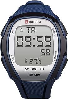 Digital Sport Watches Temperature Sensor Watches Waterproof Sports Watch EL Backlight Stopwatch Thermometer Watch