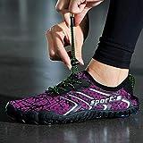 B/H Elástica Zapatos de Agua,Escarpines de Playa,Par de Zapatos de vadeo, Zapatos de Pesca de Deriva-Purple_41