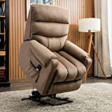 Recliner Chair for Elderly, Merax Power Lift Heavy Duty & Safety Motion Reclining Mechanism Reclining Chair for Adult, Women, Men, Recliner Sofa with Remote Control Ideal for Living Rooms, Bedrooms
