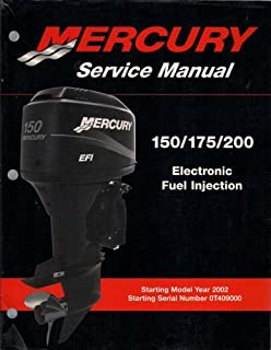 Mercury Outboard Engine Service Manual, 150/175/200 HP Electronic Fuel Injection, Starting Model Year 2002, Starting Serial Number 0T409000, Manual # 90-883728, May 2001