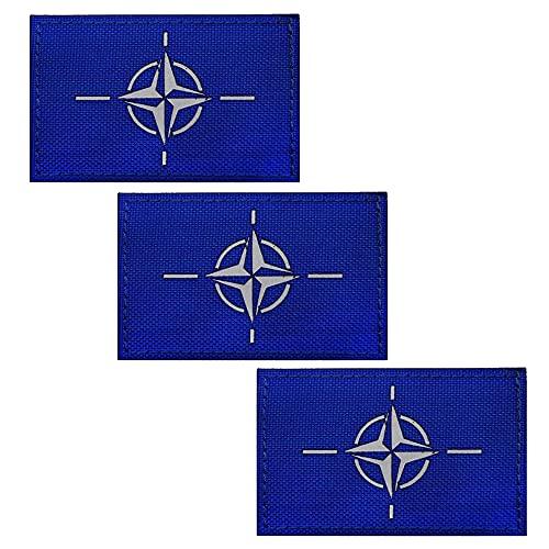 Parche reflectante infrarrojo infrarrojo de la bandera de la OTAN, organización del Tratado del Atlántico Norte Emblema táctico militar Moral decorativas