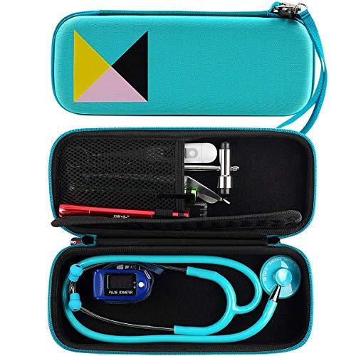 Funda para estetoscopio – Bolsillo de malla para accesorios interior con correa de mano, para estetoscopio 3M Littmann Classic (menta)
