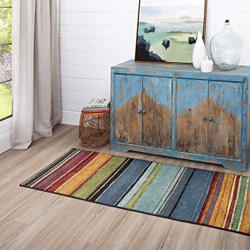 Mohawk Home New Wave Rainbow Stripe Runner Area Rug, 2'x8', Multi