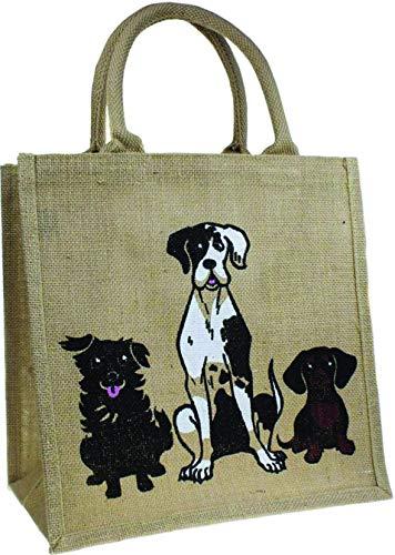 McLaughlin's Irish Shop Irland Öko Hunde-Einkaufstasche aus abbaubarer Jute