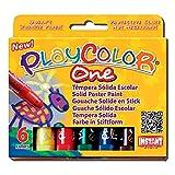 BOITE de 6Sticks Designers 'Gouache Solide PlayColor One, Malerei, die benötigt weder Wasser noch Pinsel, ohne Lösungsmittel -
