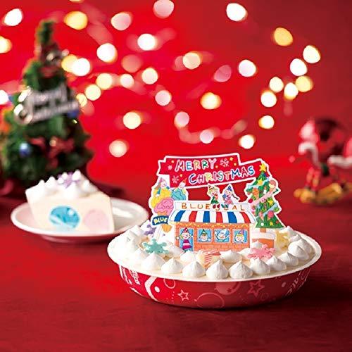 「BLUE SEAL(ブルーシール)」12フレーバーハッピーアイスケーキ(バニラ)[アイスケーキ] お届け:12月24日 クリスマスケーキ予約2021