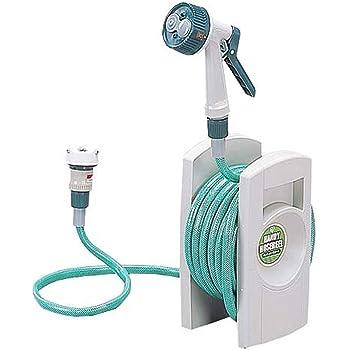 アイリスオーヤマ ホース リール ハンディーホースリール ER-10 グリーン 水やり 洗車 掃除 超コンパクト マンション住まいの人におすすめ