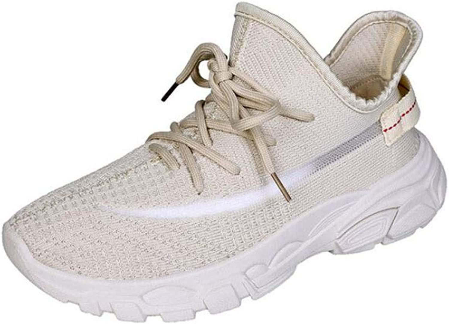 Women's Sneakers Running Running shoes Womens Lightweight Walking shoes Breathable Mesh Tennis shoes Nursing shoes (color   Beige, Size   6 US)