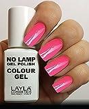 Layla Cosmetics Milano Lamp Gel Polish, motivo: smalto per unghie, fluorescente, colore: rosa