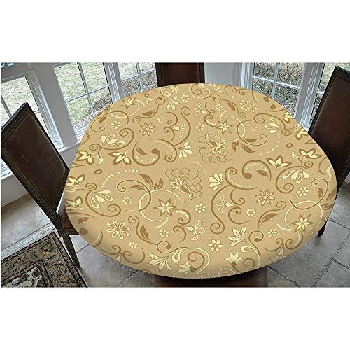 Mantel ajustable de poliéster con bordes elásticos, diseño floral femenino, estilo vintage, inspirado en época eduardiana, para mesas ovaladas/Olbong de 48 x 68 pulgadas, protección f