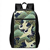 Laptop-Rucksäcke Laptop Backpack Japanese Style Crane Business Travel Computer Bag for Women and...