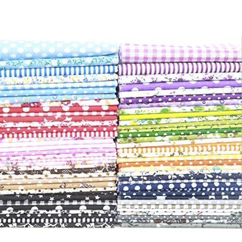 Staright 100pcs diy padrão sortido floral impresso patchwork tecido de algodão pano de costura quilting pano 250x250mm