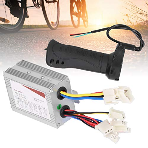 Archuu Controlador de Motor, Controlador de Cepillo de Alta Velocidad con empuñadura del Acelerador, Accesorio para Bicicletas eléctricas para Scooters eléctricos, Bicicleta eléctrica