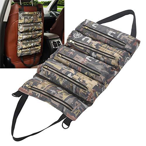 Bolsa enrollable, estuche portátil de almacenamiento en rollo para accesorios de herramientas