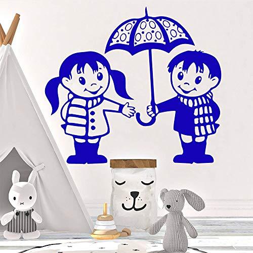 Mode Regenschirm Vinyl Selbstklebende wasserdichte wandkunst Aufkleber für Wohnzimmer Schlafzimmer Aufkleber Dekoration 28 cm x 31 cm