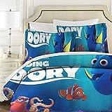 Findet Nemo gesteppte Tagesdecke, King-Size-Größe, 3-teiliges Mikrofaser-Bettdecken-Set mit modernem Bettüberwurf 177 x 218 cm + 2 Kissenbezüge 50 x 75 cm.