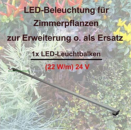 Aquarium-Plüderhausen Zimmerpflanzen LED-Erweiterungs-/Ersatz-Leuchtbalken Vollspektrum,160cm, ohne Trafo, Pflanzenlicht, Pflanzenleuchte, Kräuter