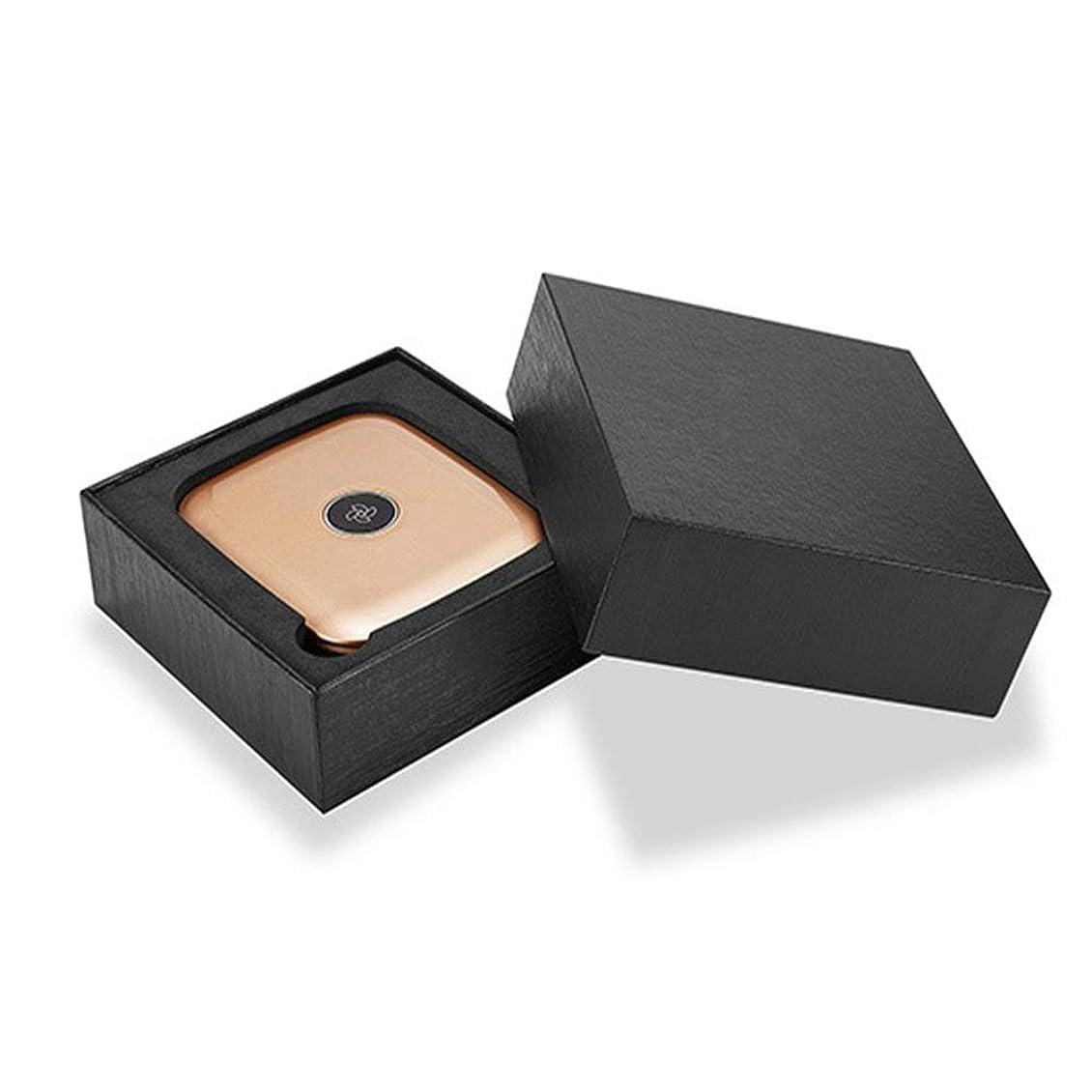 肉豪華な魅了する化粧鏡 LEDライト、タッチスクリーンと1X / 5X倍率ミラー、パワーサプライモードの化粧鏡を備えてライトアップバニティミラーを折り、旅行化粧鏡 (色 : 黄, サイズ : 8.5x9.7cm)