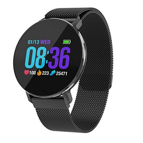 pulsera inteligente impermeable IP68, T5pulsera para Fitness Unisex con Pulsómetro de pulsera presión arterial seguimiento del sueño notificaciones llamadas y SMS para iOS y Android
