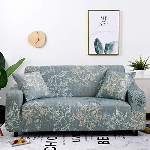 WXQY Blumendruck Schonbezüge elastische Stretch-Sofabezug Haustierschutz Sofabezug L-förmige All-Inclusive-Sofabezug A33 3-Sitzer
