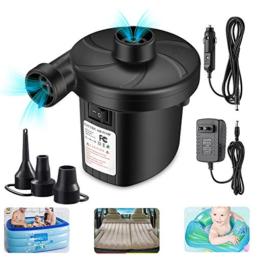 Air Pump for Pool Inflatables, Electric Air Pump for Inflatable, Quick Fill Inflator Deflator Air Pump Perfect for Outdoor Camping Inflatable Boat Blow Up Pool Water Toy Car Air Bed