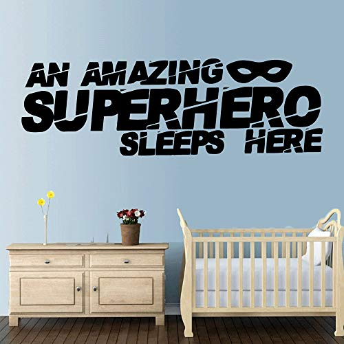 wZUN Cartoon-Stil Held Wandaufkleber Wandkunst Aufkleber Moderne Mode Wandaufkleber Wohnzimmer Kinderzimmer Poster 90x29cm